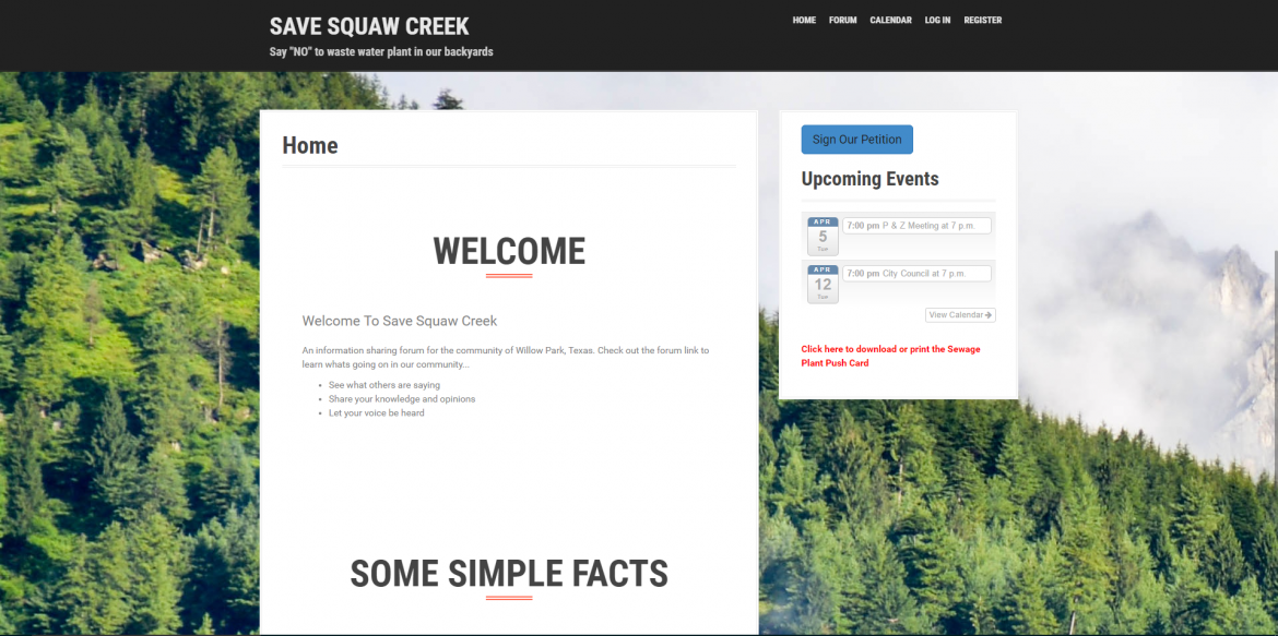 Infinite Web Development, Save Squaw Creek